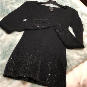 Gorgeous black sequined top